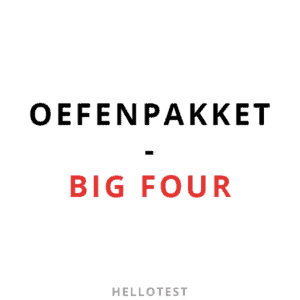 Big four assessment oefenpakket